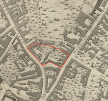 Site of St Botolph's church, Millard & Manning 1830